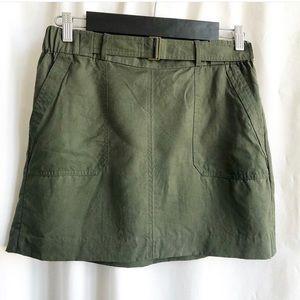 Banana Republic factory army green skirt